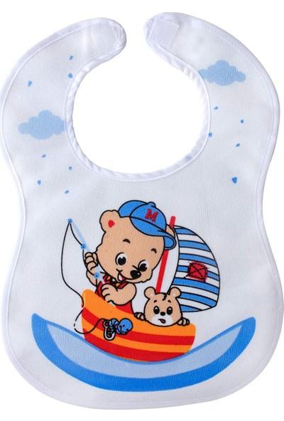 AyBaby Sevi Bebe Cırtlı Havlu Mama Önlüğü - Denizci