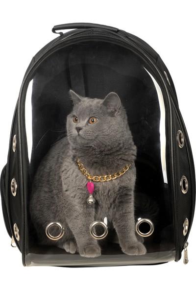 Tropheus Çanta Şeffaf Astronot Kırılmaz Kedi Köpek Taşıma Çantası 42 x 22 x 33 cm