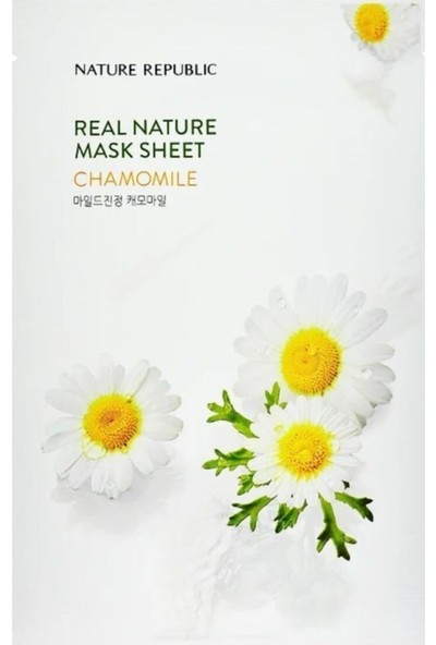 Nature Republic Nature Republic-Real Nature Mask(Papatya Ozlu Nemlendirici ve Tazelendirici Maske)