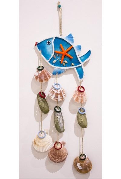 Antioch Deniz Yıldızlı Deniz Kabuklu Balık Duvar Süsü Bahçe Süsü Balkon Süsü Ev Dekor
