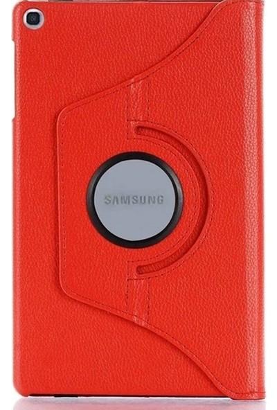 Smcase Samsung Galaxy Tab A7 Lte Sm T 507 10.4 Kılıf Dönerli Kapaklı Koruma Kırmızı