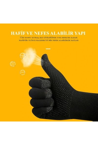 Madepazar Hassas 10 Parmak Dokunmatik Pubg Profesyonel Oyuncu Eldiveni