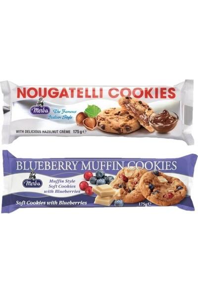Merba Kurabiye Nougatelli Fındık 175 gr - Soft Bluberry Muffin 175 gr