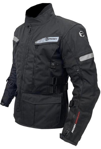 Prosev 7150 Full Korumalı Uzun Model 4 Mevsim Motosiklet Montu (Siyah)