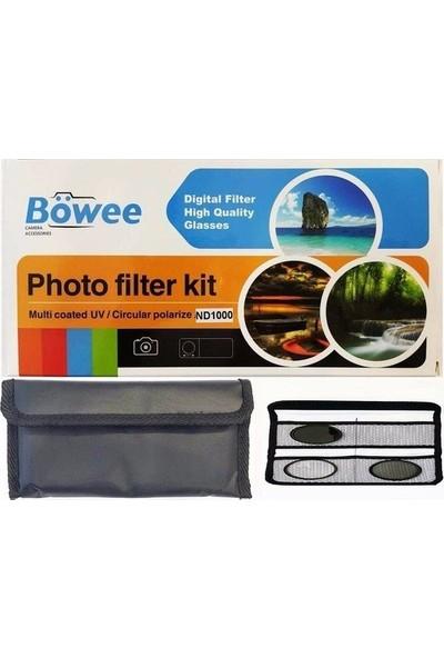 Böwee 58MM Uv + Cpl + ND1000 Filtre Kiti