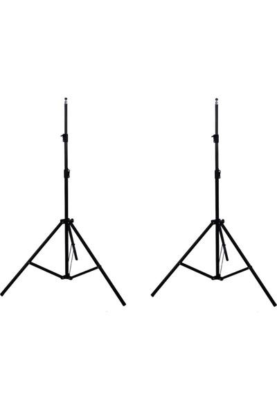 3x6 Mavi Fon Perdesi ve Fotexon Fon Standı