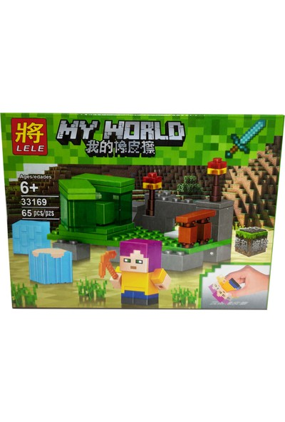 Elifeshop ES33169-4 Blok Yapılandırma Oyuncağı LEGO Seti Minecraft My World 65 Parça