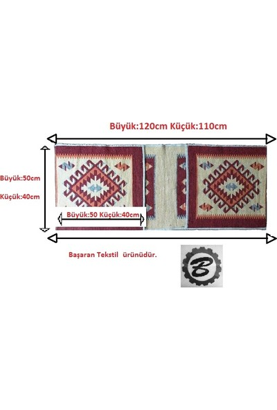 Başaran Tekstil Antik Kilimden Motosiklet Heybesi 2 Gözlü Kilim Çanta