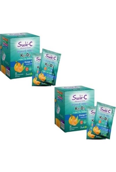 Suda Collagen Suda-C Vitamin C+K2+D3 Portakal Aromalı 20 Şase-2 li
