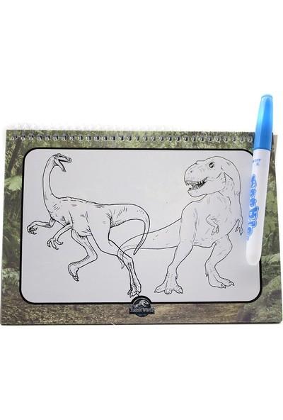 Lisanslı Su Bazlı Sihirli Boyama Kitabı - 3 Adet - Dragon-Trolls-Jurassic