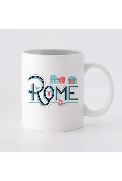 Fandomya Legend City Roma Düz Kupa Bardak