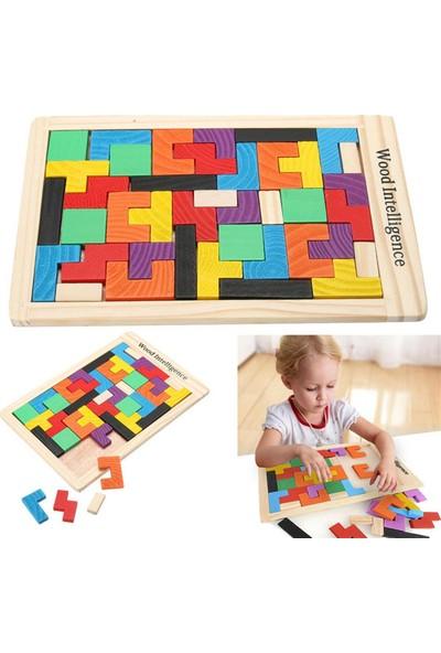 Startech - Ahşap Eğitici Oyuncak Tetris Zeka Oyunu