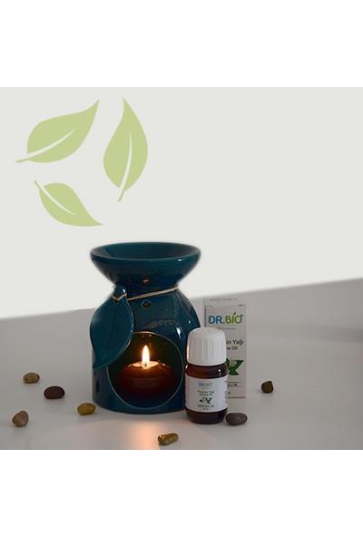 Dr Bio Aromaterapi Yaprak Tasarımlı Yeşil Buhurdanlık & Dr Bio Yasemin Yağı (20 Ml)