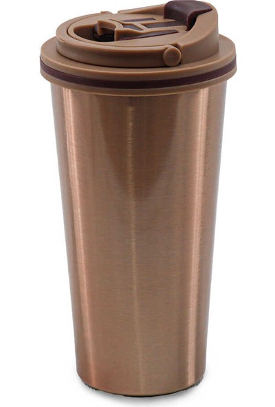 Medusa A11-3 Taşıma Kulplu Kilitli Mug Bardak Termos Bronz