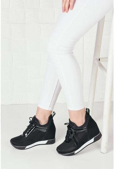 Weynes Kadın Yüksek Taban Gizli Topuk Spor Ayakkabı BA20260