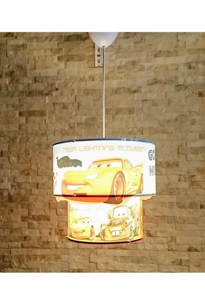 Eslight Cars Şimşek Mcqueen Arabalar Çocuk Odası Sarkıt Avize ESP011CR