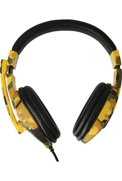 Karler KR-GM601 Rgb Light Mikrofonlu 3.5 mm Kablolu Oyuncu Kulaklığı Sarı