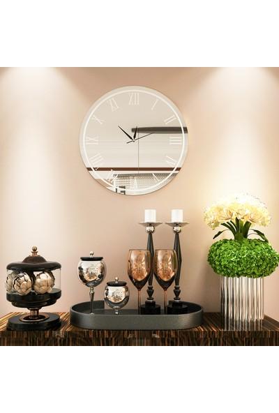 Camex Beyaz Roma Rakamlı Aynalı Duvar Saati