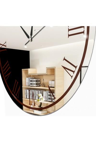 Camex Kahverengi Roma Rakamlı Aynalı Duvar Saati