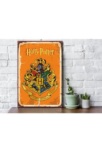 Fandomya Ahşap Poster Harry Potter Hogwarts Logo 12 x 17 cm + Çift Taraflı Bant