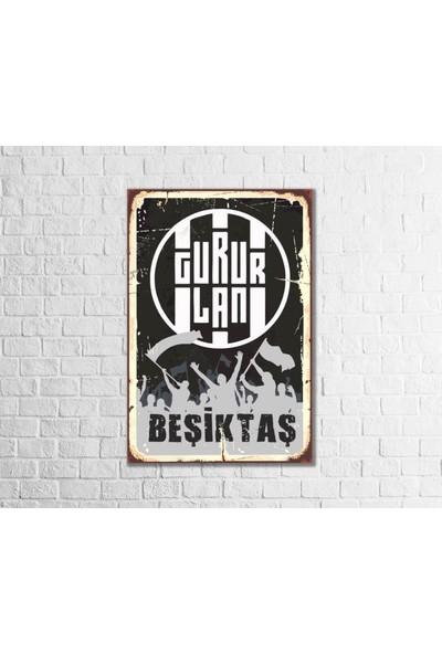 Fandomya Ahşap Poster Gururlan 12 x 17 cm + Çift Taraflı Bant