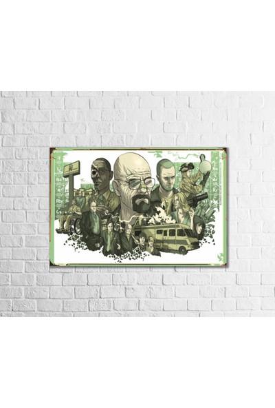 Fandomya Ahşap Poster Breaking Bad 12 x 17 cm + Çift Taraflı Bant