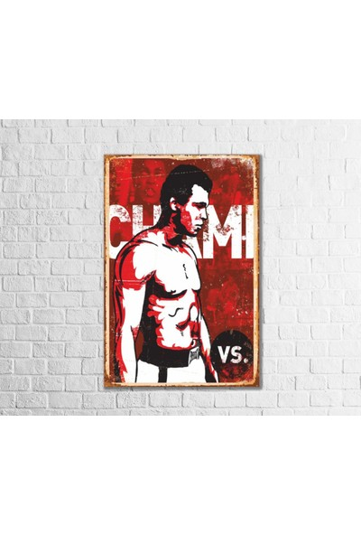 Fandomya Ahşap Poster Champ 12 x 17 cm + Çift Taraflı Bant