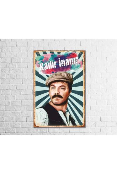 Fandomya Ahşap Poster Kadir İnanır 12 x 17 cm + Çift Taraflı Bant