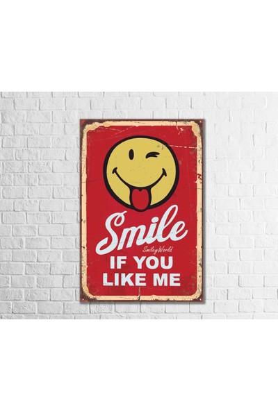 Fandomya Ahşap Poster Smile 12 x 17 cm + Çift Taraflı Bant