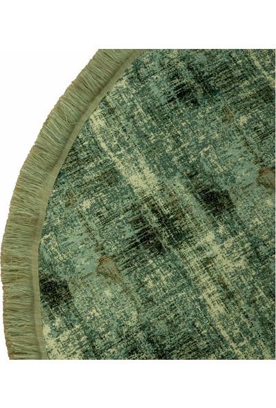 Deccor Evım 140X200 Yuvarlak Özel Kupon Ihracat Decoratif Pamuklu Jakarlı Dokuma Halı Kilim