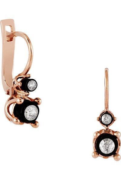 Clavis Jewelry Elmas Taşlı Tektaş Küpe