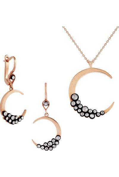 Clavis Jewelry Elmas Taşlı Hilal Küpe