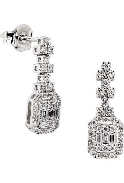 Clavis Jewelry Baget Kesim Pırlantalı Küpe