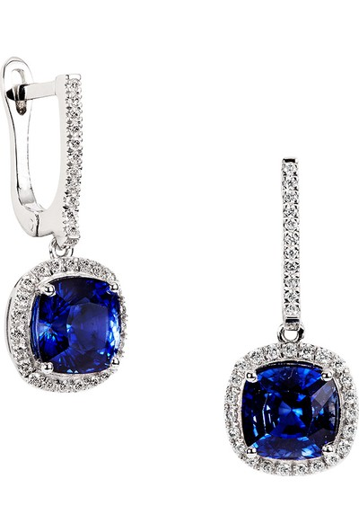 Clavis Jewelry Safir Taşlı Pırlanta Küpe