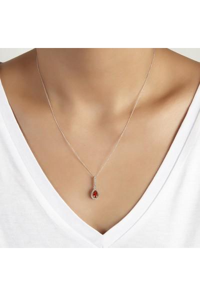 Clavis Jewelry Yakut Taşlı Pırlanta Kolye
