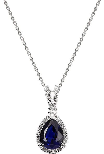 Clavis Jewelry Safir Taşlı Pırlanta Kolye