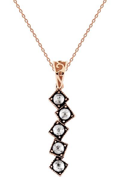 Clavis Jewelry Elmas Taşlı Su Yolu Kolye