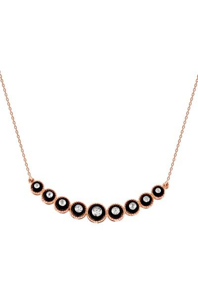 Clavis Jewelry Elmas Taşlı Tasma Kolye