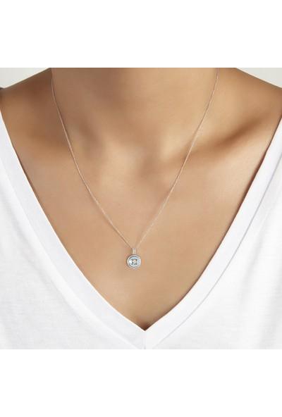 Clavis Jewelry Mineli, Citrin ve Pırlantalı Kolye