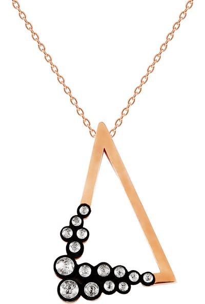 Clavis Jewelry Elmas Taşlı Üçgen Model Kolye