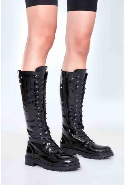 Bambi̇ Siyah Rugan Kadın Çizme
