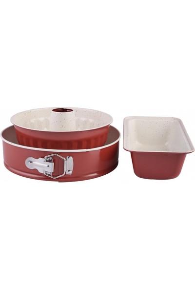 Karaca Retro Kırmızı Kek Seti