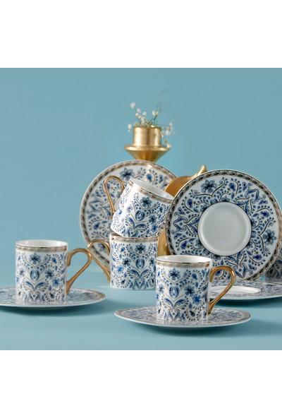 Karaca Delft Blue 6 Kişilik Kahve Fincan Takımı