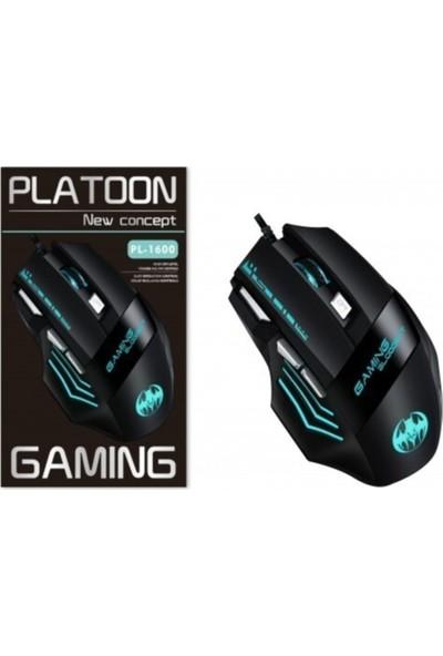 Platoon PL-1600 Işıklı Oyuncu Mouse