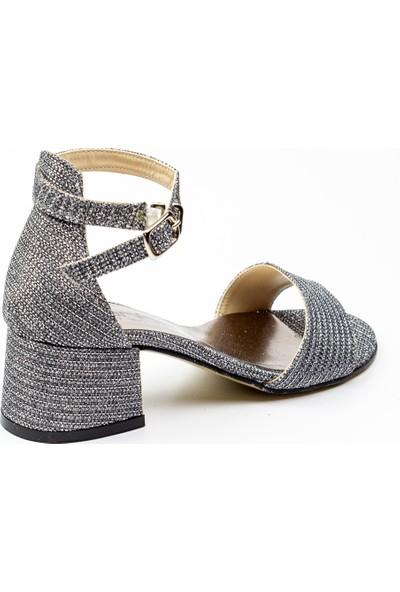 Sanbe 415 T 713 Platin Kız Çocuk Abiye Ayakkabı