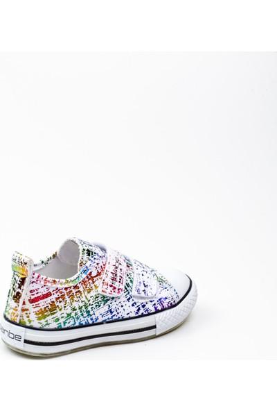 Sanbe 552 T 2501 Beyaz Işıklı Çocuk Ayakkabı