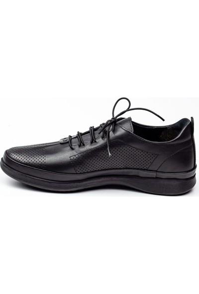 Marcomen 13198 Siyah Deri Erkek Günlük Ayakkabı