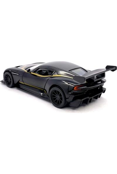 Kinsmart Çek Bırak Aston Martin Vulcan (Desenli) Oyuncak Araba
