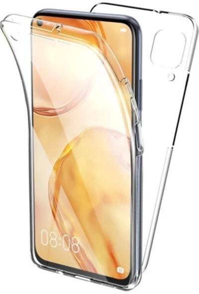 Mobilite Xiaomi Redmi Note 9 Pro 360 Derece Şeffaf Silikon Kılıf Komple Koruma Şeffaf