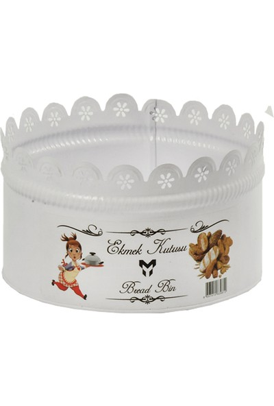 Yıldıray Metal Ekmek Kutusu Beyaz